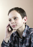 Teenage boy with cell phone. Happy Teenage boy with cell phone Stock Image