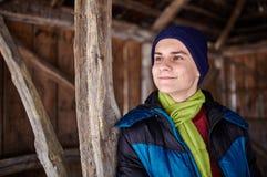 Teenage boy closeup portrait Stock Images