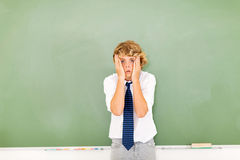Teenage boy confused Stock Photography