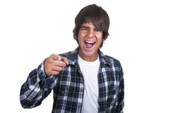 Teenage boy crying Royalty Free Stock Photo