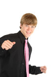 Teenage boy dancing Stock Photo