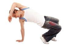 Teenage boy dancing hip-hop Stock Images