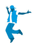 Teenage boy dancing Royalty Free Stock Image