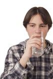 Teenage boy drinking water Royalty Free Stock Photo
