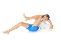 Teenage boy exercising yoga Royalty Free Stock Images