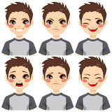 Teenage Boy Face Expressions Stock Images