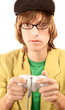 Teenage boy with game controller Stock Photography