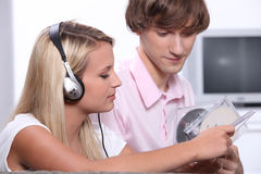 Teenage boy and girl Royalty Free Stock Photo