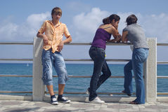 Teenage boy and girls Stock Photo