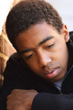 Teenage boy having problems. Royalty Free Stock Photos