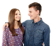 Teenage boy and his girlfriend Royalty Free Stock Photography