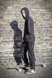 Teenage boy with hoodie Stock Photography