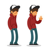 Teenage boy illustration Royalty Free Stock Image