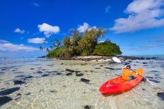 Teenage boy kayaking Stock Photography