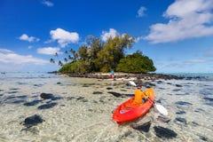 Teenage boy kayaking Royalty Free Stock Photography