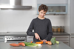 Teenage Boy in the kitchen Royalty Free Stock Image