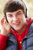 Teenage Boy Listening To Music Royalty Free Stock Photo