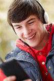 Teenage Boy Listening To Music Royalty Free Stock Image