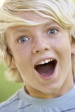 Teenage Boy Looking Excited Royalty Free Stock Photos
