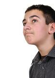 Teenage boy looking up Stock Image