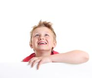 Teenage boy looking up. Royalty Free Stock Images
