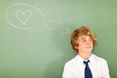Teenage boy love Royalty Free Stock Photos