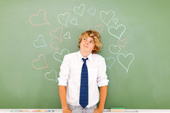 Teenage boy love Royalty Free Stock Photography