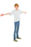 Teenage boy with open arms Stock Photography