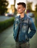 Teenage boy outdoor Royalty Free Stock Photography