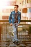 Teenage boy outdoor Stock Photography