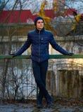 Teenage boy outdoor portrait Royalty Free Stock Image