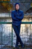 Teenage boy outdoor portrait Stock Images