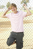 Teenage Boy In Playground Stock Photography