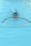 Teenage boy in pool Royalty Free Stock Image