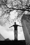Teenage boy practicing free running Royalty Free Stock Photo