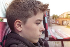 Teenage boy in profile. Portrait of a teenage boy in profile Royalty Free Stock Photo