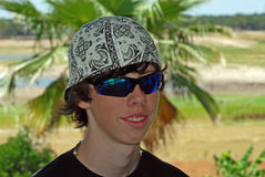 Teenage Boy's Tropical Vacation Stock Image