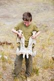 Teenage boy on safari stock photography