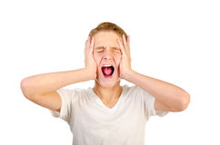 Screaming Scared Teenager Boy Stock Images - 75 Photos