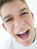 Teenage boy shouting Royalty Free Stock Photos