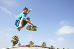 Teenage Boy In Skateboard Park Royalty Free Stock Photography