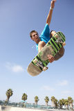 Teenage Boy In Skateboard Park Royalty Free Stock Images