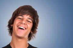 Teenage boy smiling Stock Photo
