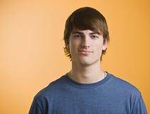 Teenage Boy Smiling at Camera Stock Images