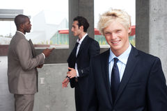 Teenage boy in suit Royalty Free Stock Images