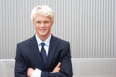 Teenage boy in suit Stock Image