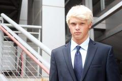 Teenage boy in suit Stock Photo