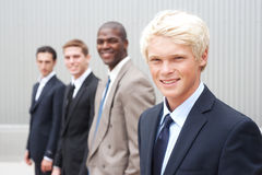 Teenage boy in suit Royalty Free Stock Image