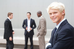Teenage boy in suit Royalty Free Stock Photos