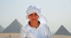 Teenage boy tourist in Egypt Stock Photography